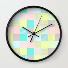Decorated Pixel II Wall Clock