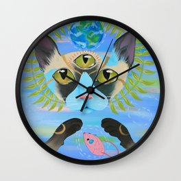 Paws of the Earth Wall Clock