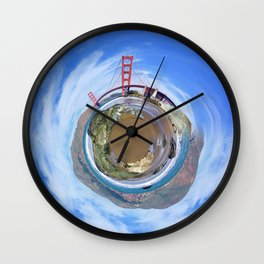 Golden Gate Sphere Wall Clock