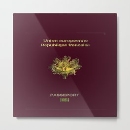 French Passport  Metal Print