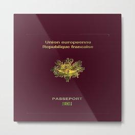 French Passport  Metal Print