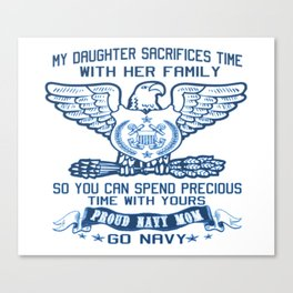 PROUD NAVY MOM Canvas Print