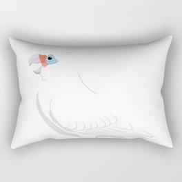 Little corella Rectangular Pillow