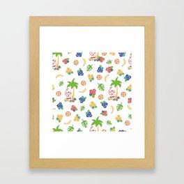 Tropical Monkey Island Framed Art Print