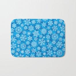 snowflakes background (winter design) Bath Mat