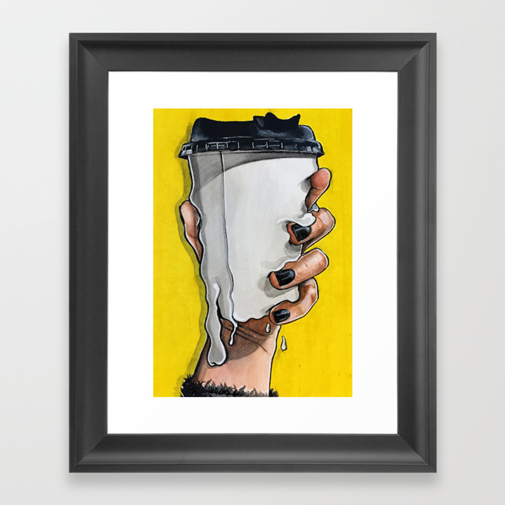 Melting Cup Framed Artwork by Naagatte FRM8351216