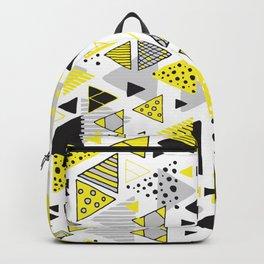 Triangles, random triangles (on white) Backpack