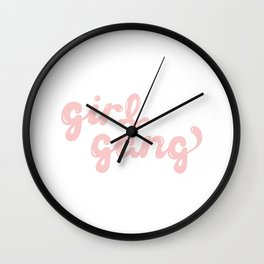 girl gang 2 Wall Clock