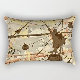 Miniature Original - Brown nuetral Rectangular Pillow