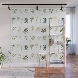 Delicate Floral Pieces Wall Mural