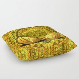 Halloween pumpkins and fall kaleidoscope Floor Pillow