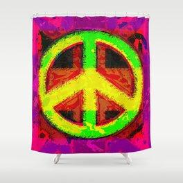 Peace Not War Pop Art Design Shower Curtain