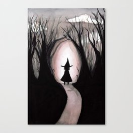 Witchy Walk Canvas Print