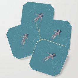 Girl Floating in the Ocean Coaster