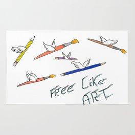 Free like art Rug