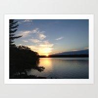 Sunset in Oscoda Michigan Art Print