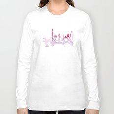 Watercolor landscape illustration_London Long Sleeve T-shirt