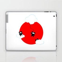 Ninja cats in the sky (Japanese edition) Laptop & iPad Skin