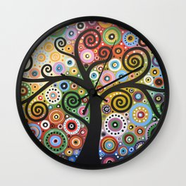 Abstract Art Landscape Original Painting ... She Dreams In Color Wall Clock