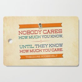 How Much You Care Cutting Board
