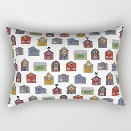 Barn Quilt Illustration Rectangular Pillow