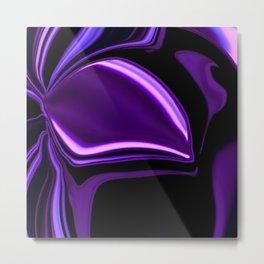 purple tropical flower abstract digital painting Metal Print