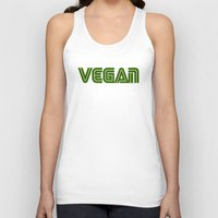 vegan Tank Tops featuring Vegan #1 by Jeremy Jon Myers