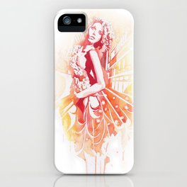 Lady on Fire iPhone Case