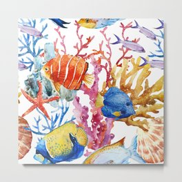 The Reef Metal Print