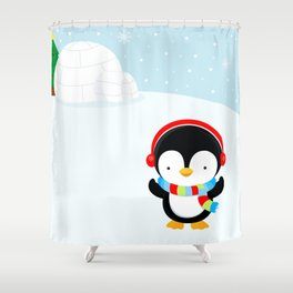 Cute penguin boy #2 Shower Curtain