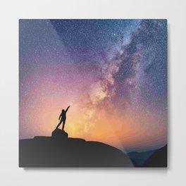 Star catcher galaxy Metal Print