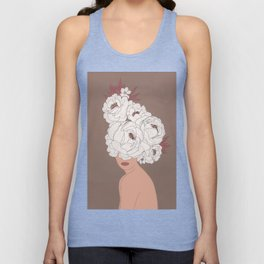 Woman with Peonies Unisex Tank Top