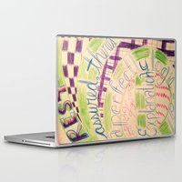 gravity falls Laptop & iPad Skins featuring Gravity Falls Quote by writingoverashes