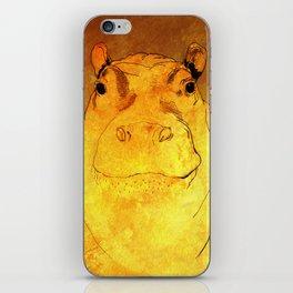 Golden Hippo iPhone Skin