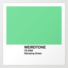 Glamping Green Art Print