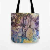 exo Tote Bags featuring Exo- Birth Series I by Melina Green