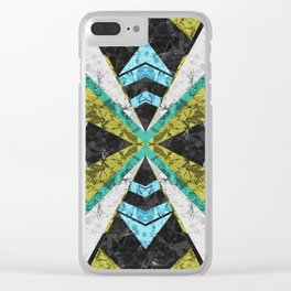Marble Geometric Background G442 Clear iPhone Case