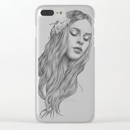 Patience - a digital drawing Clear iPhone Case