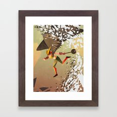 Flying and Hitting Stuff is Awesome Framed Art Print