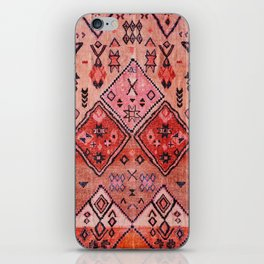 N52 - Pink & Orange Antique Oriental Traditional Moroccan Style Artwork iPhone Skin