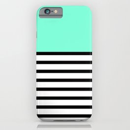 Tiffany Black and White Stripes Pattern iPhone Case