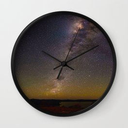 Milky Way Galaxy Star Night Sky Night Time Wall Clock