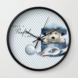 A Pawfect Christmas Wall Clock
