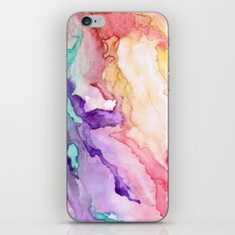 Color My World Watercolor Abstract Painting iPhone Skin