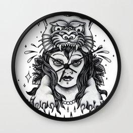 Chica tigre Wall Clock