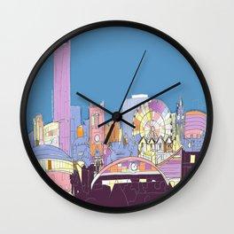 Manchester Skyline Opera House Hilton Hotel Railway City Town Hall England GB UK Wall Clock