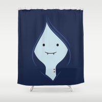 marceline Shower Curtains featuring Marceline, The Vampire Queen by dudsbessa