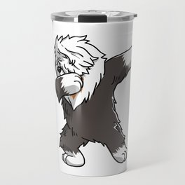 Funny Dabbing Old English Sheepdog Dog Dab Dance Travel Mug