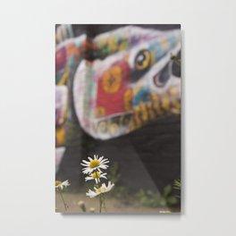 Grafitti and nature Metal Print