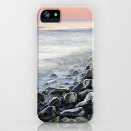 """Bright stones"". Pink sunset iPhone Case"